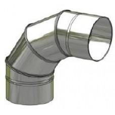 Koleno nerez regulovatelné ø130mm / 0 - 90° 4-segm